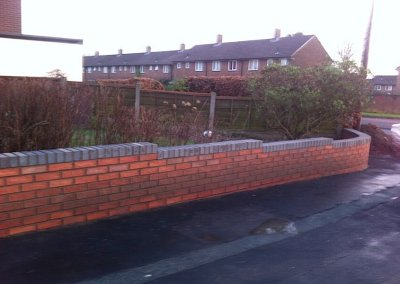 Outdoor low level wall
