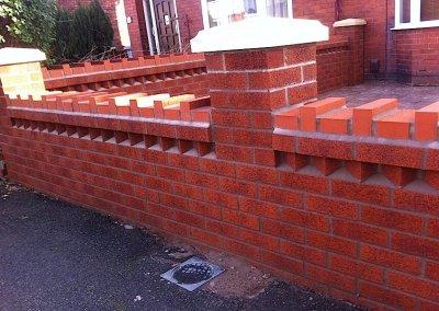 Garden wall detailing