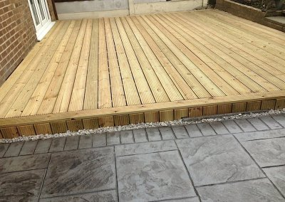 North West decking project