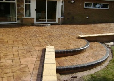 Printed concrete with KL block paving