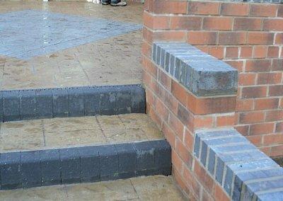 Printed concrete steps