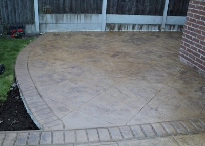 Pattern imprinted concrete in Oldham