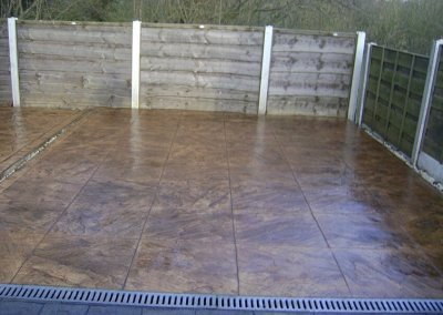 concrete patio with drainage