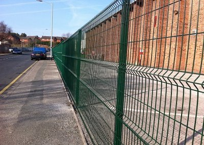 Green commercial fencing
