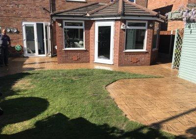 concrete patio bury
