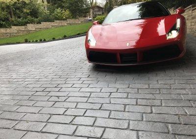 imprinted concrete driveway
