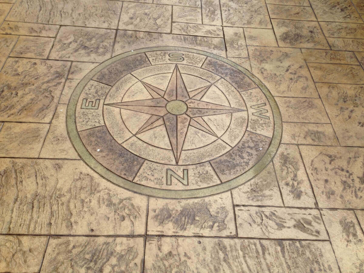 Acid Stained Compass Print Brandlesholme