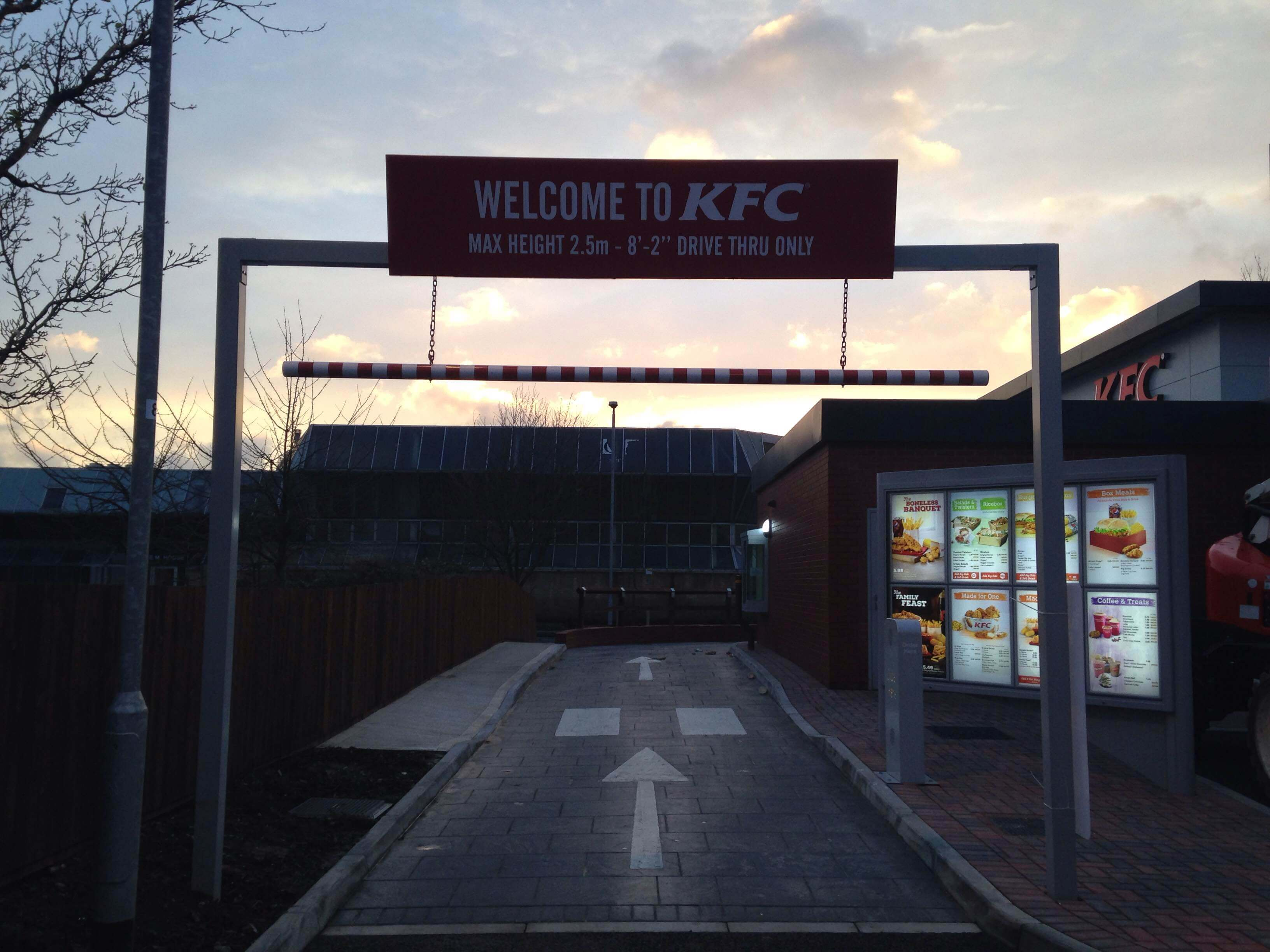 KFC drive thru entrance