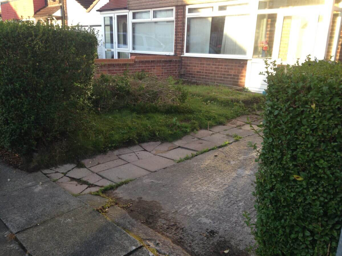 Middleton Driveway Before