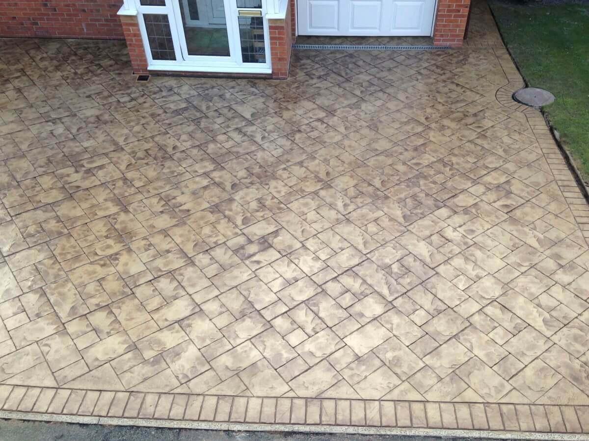 Pattern Imprinted Driveway Bury