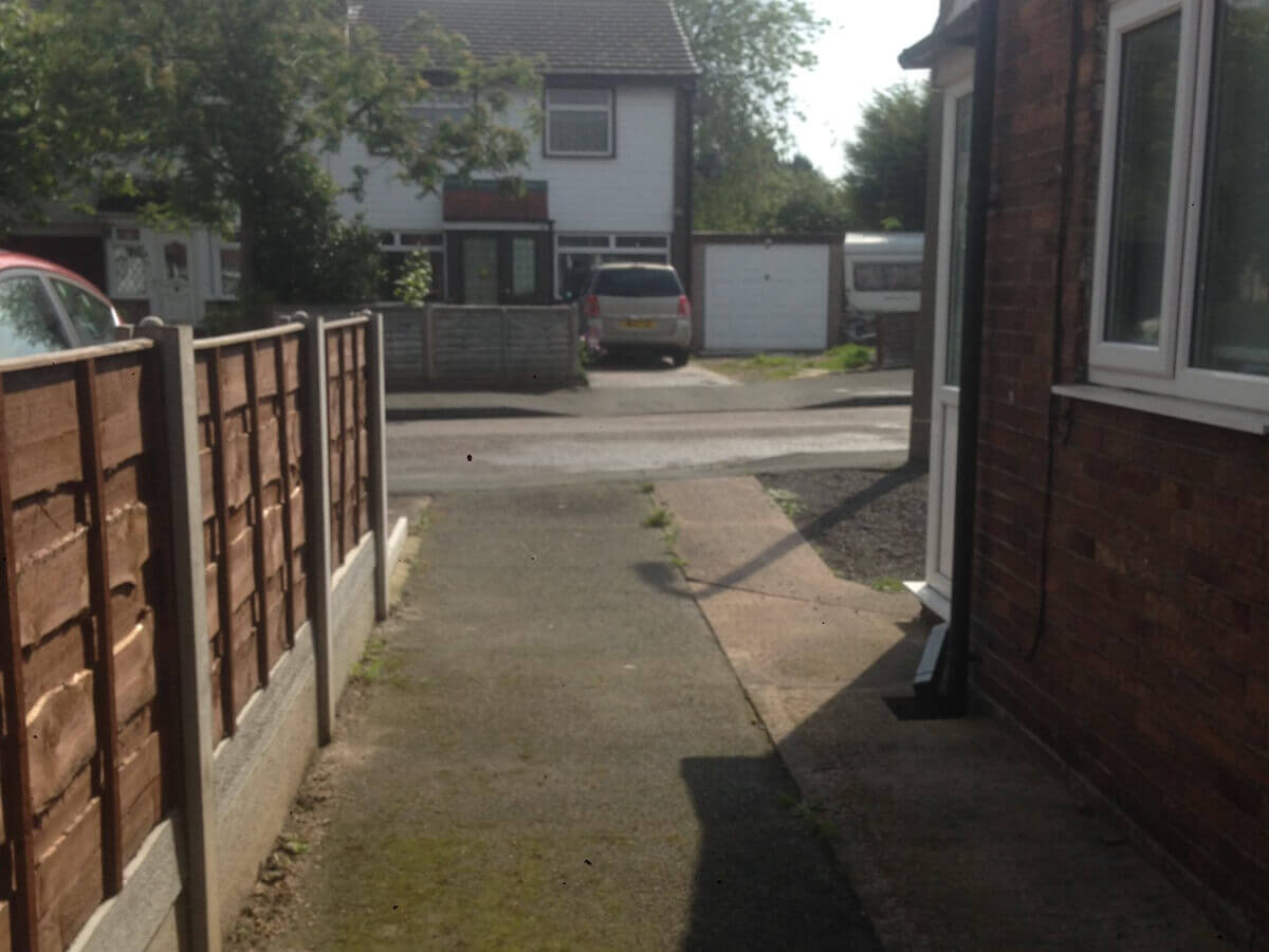 Urmston Driveway Before