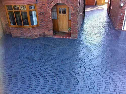 cobble effect concrete driveway