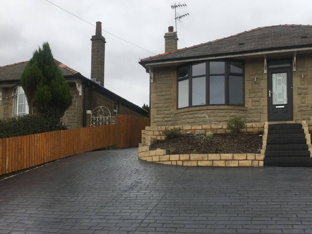 Patterned Concrete Driveway Rossendale