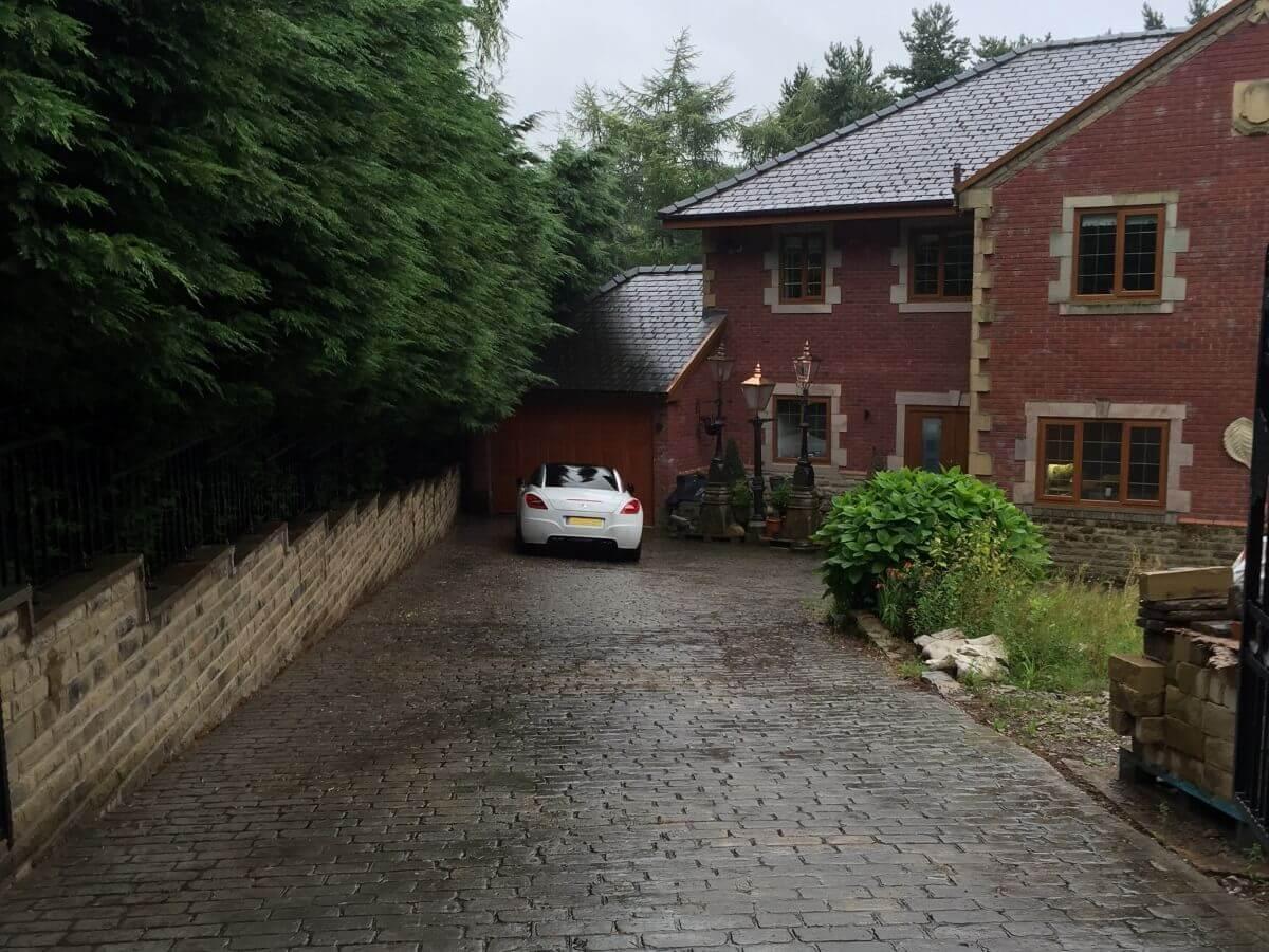 Concrete Front Driveway Before Bolton