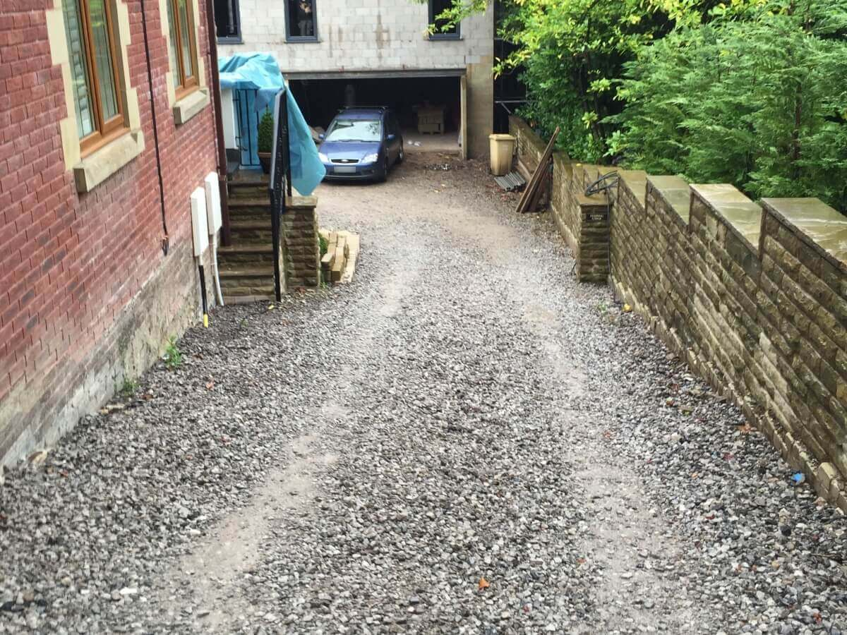 Side Driveway Before Bolton