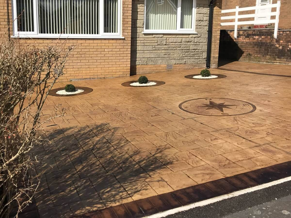 Burnley Patterned Concrete Driveway