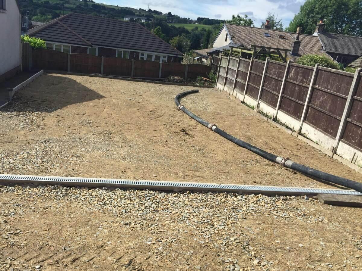 Hawkshaw Plain Concrete Installation