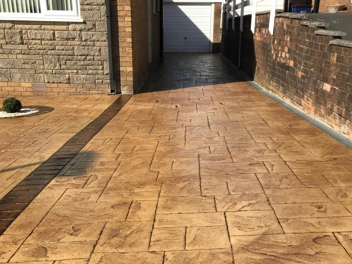 Imprinted Concrete Driveway Burnley