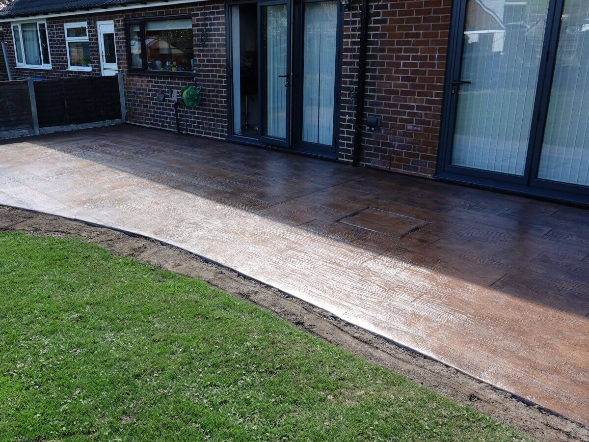 Imprinted Concrete Patio Decking Rochdale