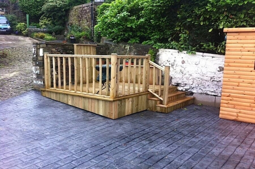 decking and concrete