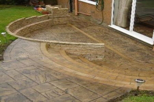 Concrete patio in Bolton