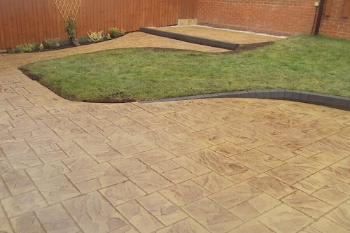 Concrete driveway and patio installation