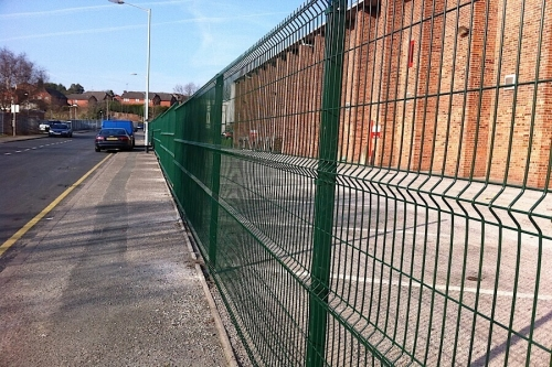 commercial fencing project