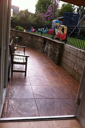 Concrete patio in the north west