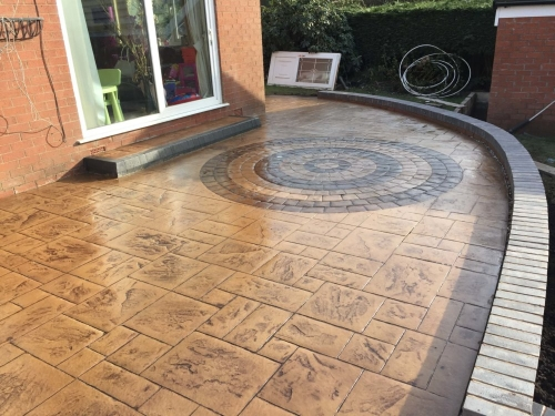 Pattern Imprinted Patio